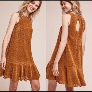 Anthropologie Maeve Suede Dress Size 0 Petite
